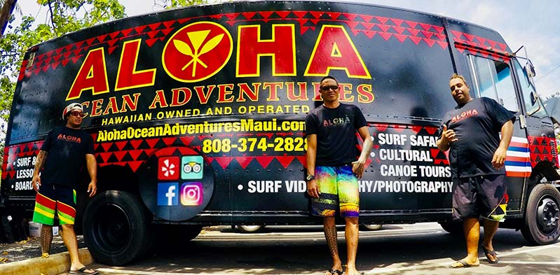Aloha Ocean Adventures team at truck