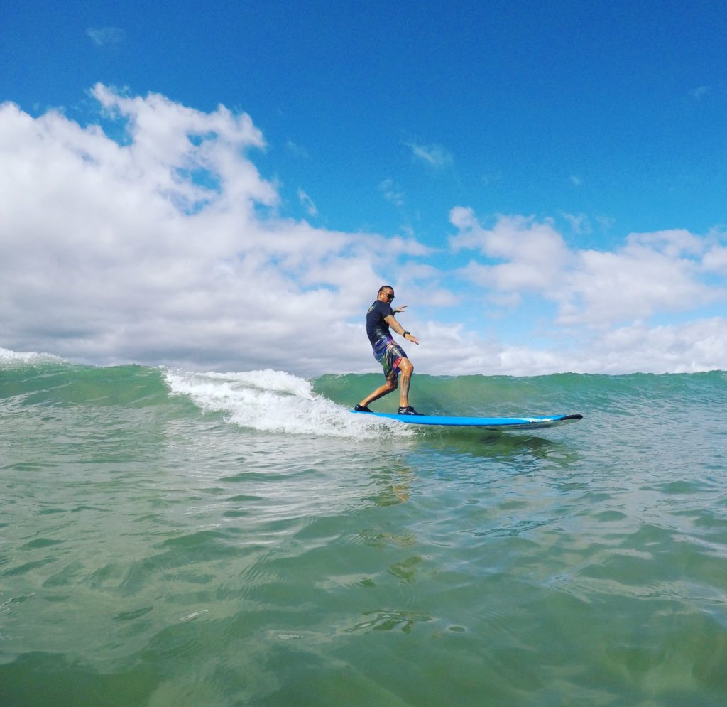 Keoki surfing on Maui